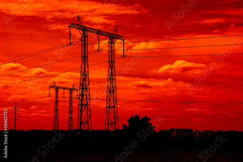 La pose en embrasure Rouge Power lines