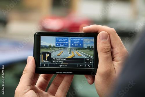 Cuadros en Lienzo  Ein Navigationsgeraet Vermittlung, Beratung, Schule, Betrieb,