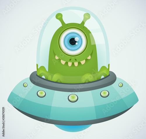 Poster Creatures Ufo. Alien.