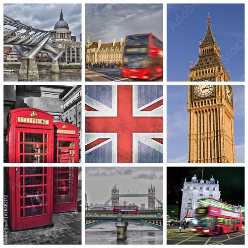 Fotografie, Obraz  Fotografické koláže Londýn - Velká Británie
