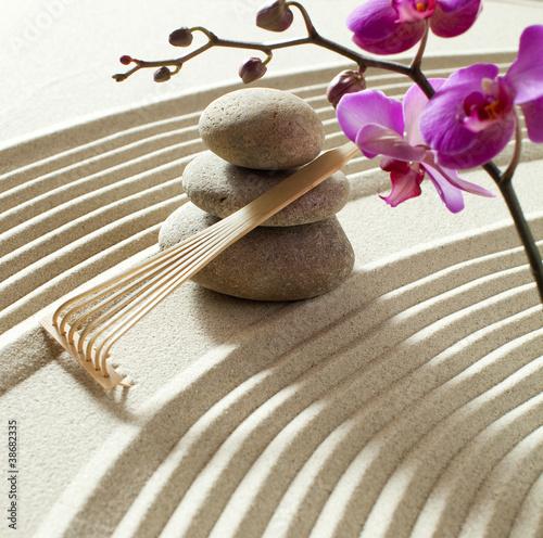 Acrylic Prints Stones in Sand zen asian atmosphere