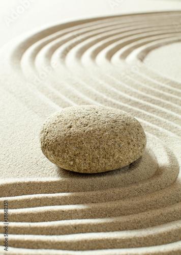 Foto op Aluminium Stenen in het Zand peaceful natural progression