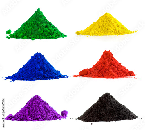 Fotografie, Obraz  Collection of colorful powder