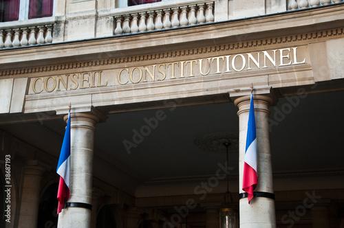 Fotografía  conseil contitutionel à Paris