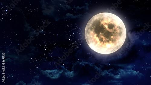 Fotografie, Obraz moon in the night sky