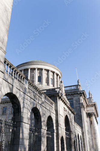 The Four  Courts in Dublin City Ireland Poster