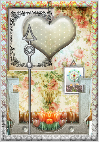 Canvas Prints Imagination Heart of saint valentino.