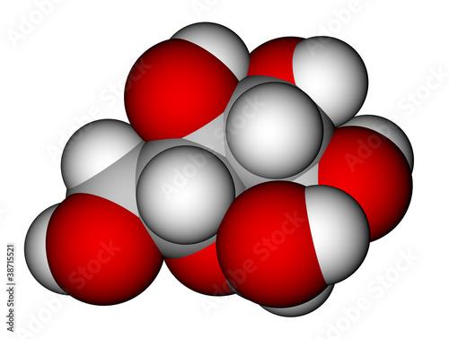 Fotografia, Obraz  Glucose (α-D-glucopyranose) molecular model