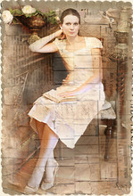 Vintage Style Woman With A Book