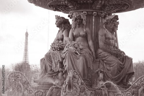 Place de la Concorde and Eiffel Tower, Paris, France
