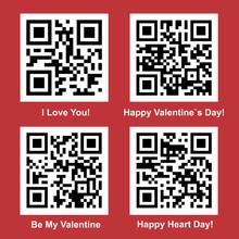Love QR Code Vector Set
