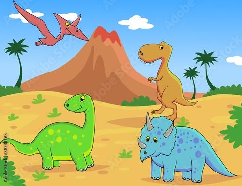 In de dag Dinosaurs dinosaurus