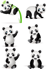 Fototapeta Panda cartoon