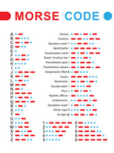 Morse Code. Vector Illustration.
