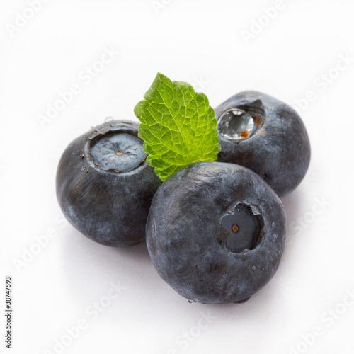 Foto op Canvas Vruchten Blueberry isolated