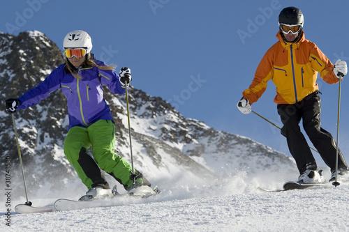 Fotografía  Skifahrer im Parallel Slalom