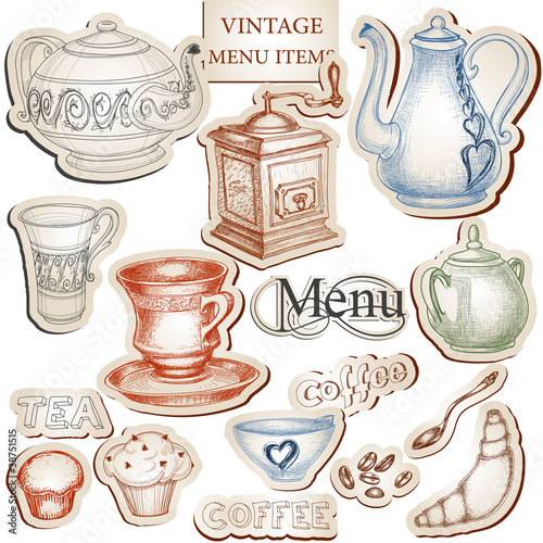 Vintage Kitchen Tools And Food Icons Set Stock Vektorgrafik Adobe Stock
