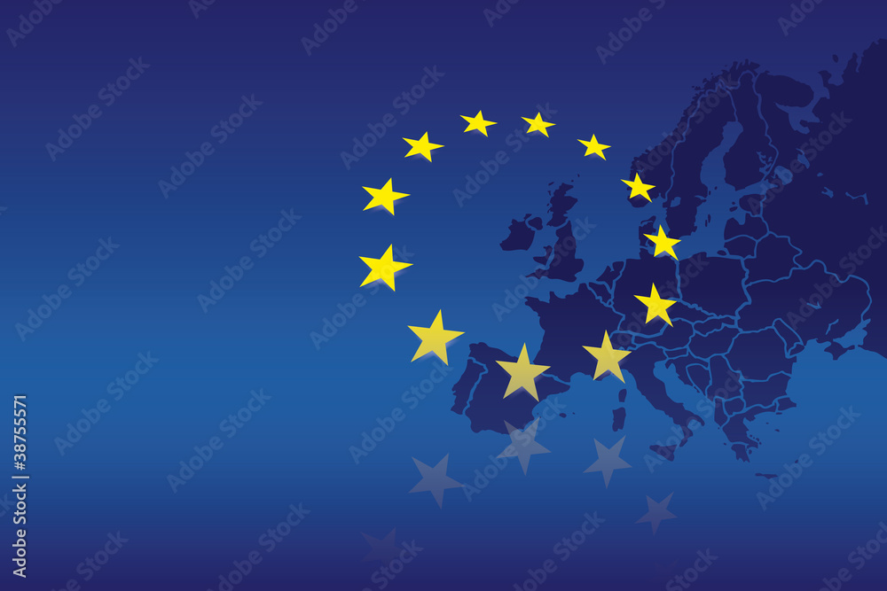Fototapety, obrazy: Europa Flagge Fahne 3