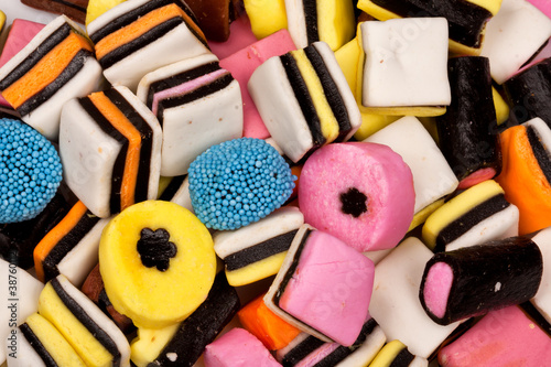 Photo Different all sorts sweets in a pile