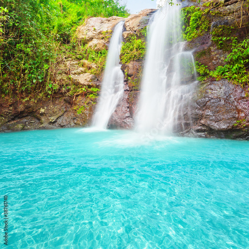 Poster Turquoise Waterfall