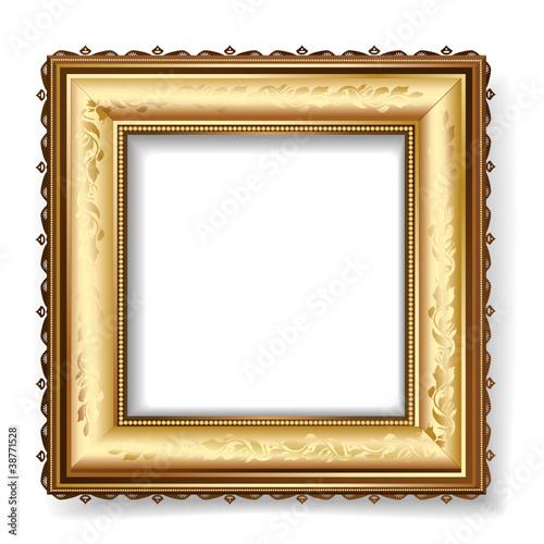retro frame with gold leaf