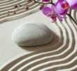oriental sand stone garden