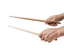 Hands Playing With Drums Stick...