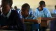 Testing in a school in Kenya.