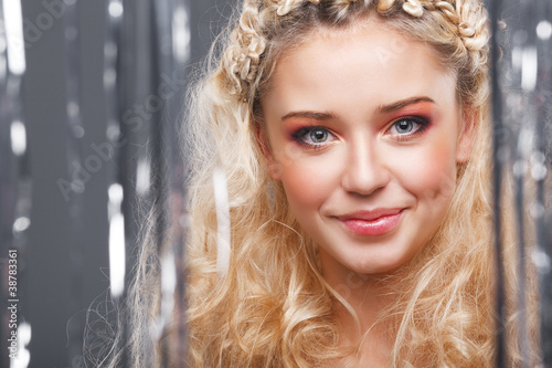 Canvas Prints Dragons Beautiful blonde