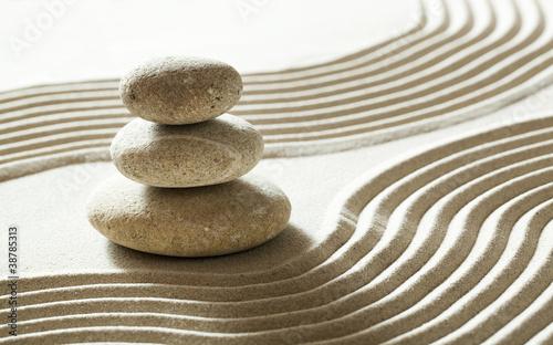 Photo sur Plexiglas Zen pierres a sable mineral sand stone garden