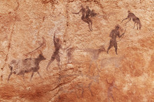 Rock Paintings Of Tassili N'Aj...
