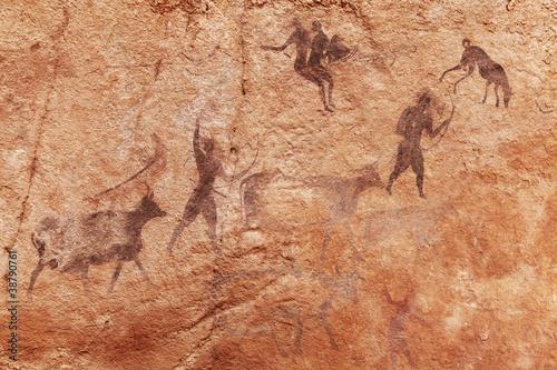Rock paintings of Tassili N'Ajjer, Algeria Wallpaper Mural