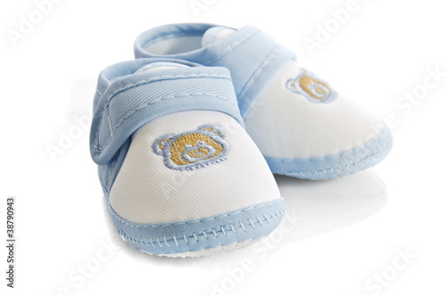 3db0ad5c5 Blue baby boy shoes isolated on white background - Buy this stock ...