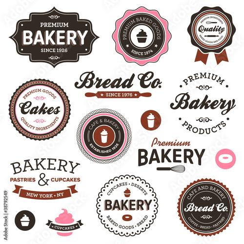 Fotografie, Obraz  Vintage bakery labels