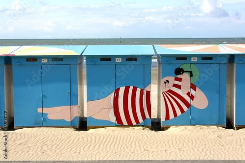 Canvas Print plage de Malo les Bains à Dunkerque