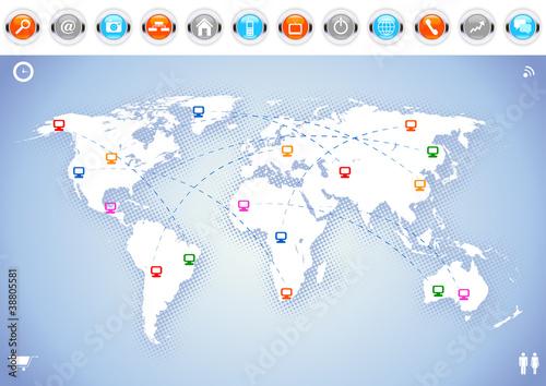 Poster Carte du monde World Background