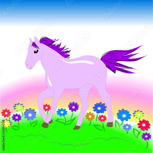 Poster Pony Лошадь