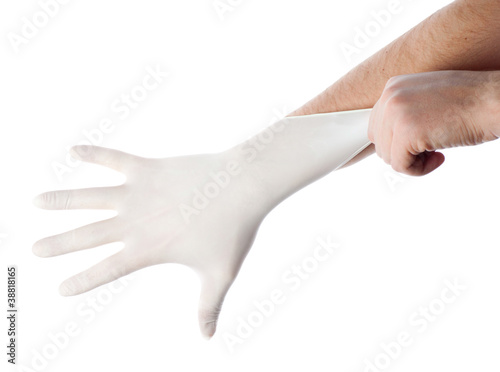 Medical gloves Canvas Print