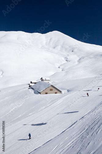 Fotografie, Obraz  Lyžování v Dolomitech v Itálii