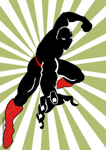 Hero in Black On Action - 38820940