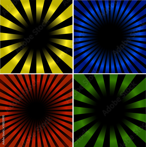 Poster Psychedelique 4 Sunburst And Abstract Backgrounds