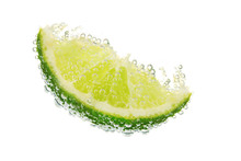 Slice Of Lime In The Water Wit...