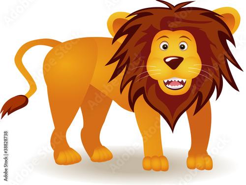 Foto op Aluminium Zoo funny lion cartoon