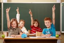 Grundschüler Melden Sich