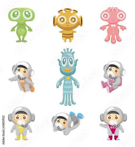 alien and astronaut icons