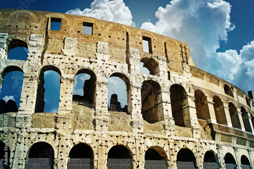 Photo  Ruins of great stadium Colosseum, Rome, Italy