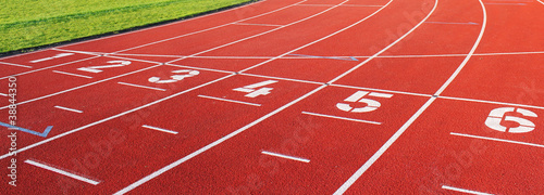 laufbahn sport eins bis sechs Canvas Print