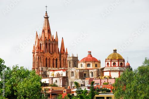Fototapeta premium Kościół San Miguel Arcangel, San Miguel De Allende (Meksyk)
