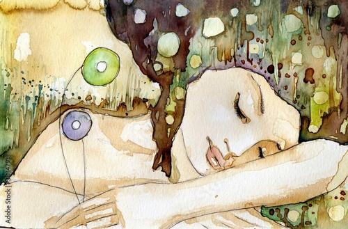 Photo Stands Painterly Inspiration senna piękna dziewczyna