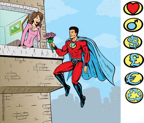 Poster Superheroes Super love